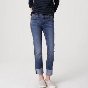 LOFT High Rise Cuffed Crop Jeans Size 6/28